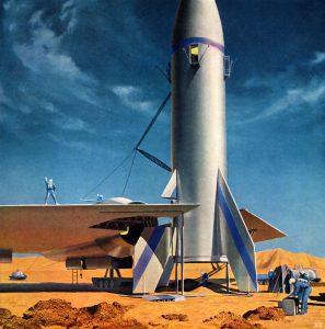 Chesley Bonestell's Mars Rocketpad